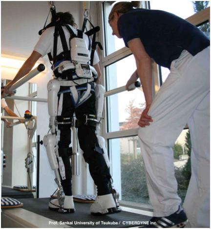 ドイツでのHAL®医療用(下肢タイプ)を使った治療風景